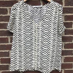 EUC black and white blouse